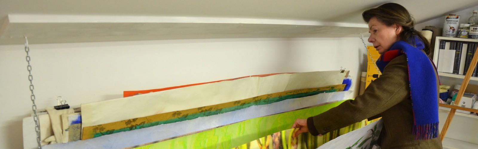 Helga Hartje im Atelier